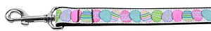 Easter Egg Nylon Ribbon Pet Leash 1 inch wide 6Ft Lsh